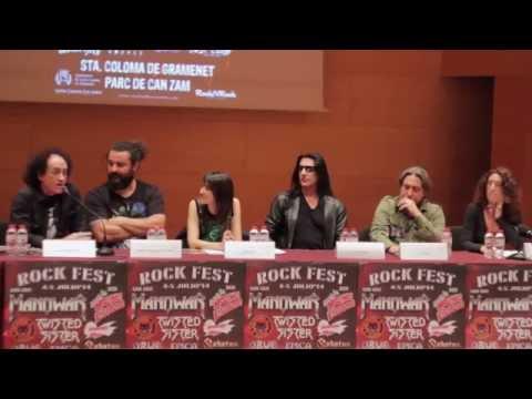 "VICENTE ""MARISKAL"" ROMERO EN LA RUEDA DE PRENSA DE ROCK FEST BCN"