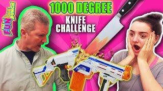 EXPERIMENT Glowing 1000 degree KNIFE vs NERF GUN!!