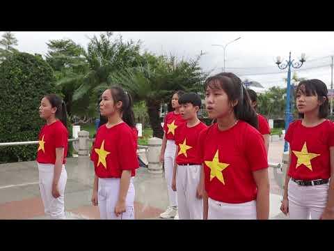 Hát Quốc Ca - Địa chỉ Đỏ, Liên Đội THCS Trần Quang Khải-TX Ninh Hòa