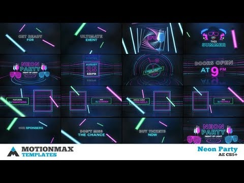 After Effects Template: Neon Party - Summer Party 06