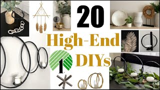Top 20 High End Dollar Tree DIY Home Decor Dupes | Pottery Barn + Kirklands & More