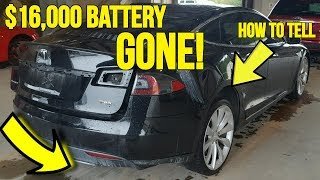 Teslas Selling at Auction are Missing $16,000 Battery Packs! Here's how it was discovered...