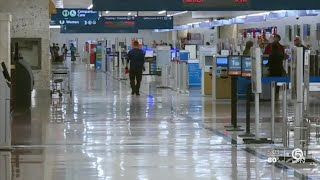 Pandemic's impact felt at airports nationwide, including Palm Beach International Airport