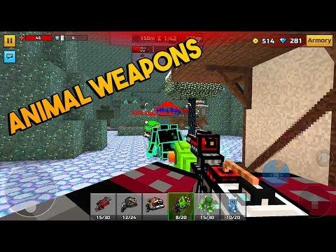 Pixel Gun 3D - Animal Weapons [Gameplay] Clan Siege Battle