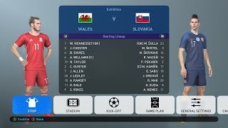 PES 2019 | WALES VS SLOVAKIA 2019 | Full Match | All Goals HD | Gameplay PC