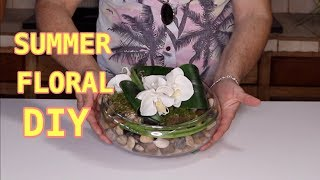 Summer Floral DIY / Modern White Floral Arrangement
