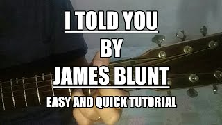 James Blunt I Told You (guitar Chords Tutorial Easy)