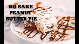 no bake peanut butter pie with cream cheese and cool whip