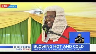 CJ Maraga changes tact, woos President Uhuru to increase Judiciary budget