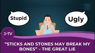 WATCH: Sticks and stones do break your bones