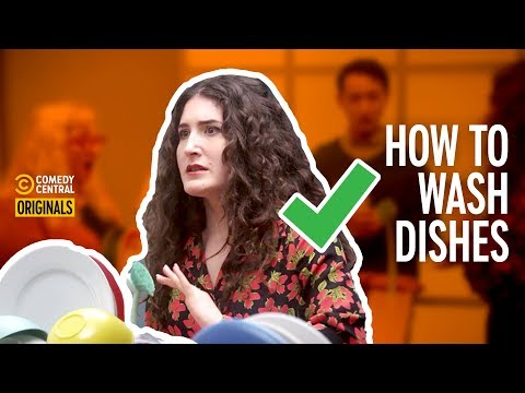 Kate Berlant Teaches: How to Wash a Dish