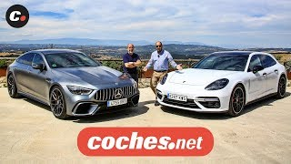 Porsche Panamera Sport Turismo vs Mercedes-AMG GT 63 4p | Prueba / Review en español | coches.net