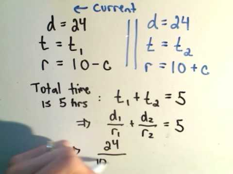 Algebra Word Problem: Distance, Rate, and Time