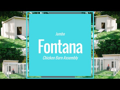 New Age Farm Jumbo Fontana Chicken Barn - Red Video