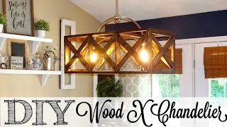DIY Wooden X Chandelier | The Look For Less Collab