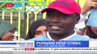 Pumwani Hospital Contracted workers strike over unpaid dues