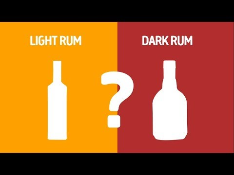 Light Rum VS Dark Rum - What's the difference?
