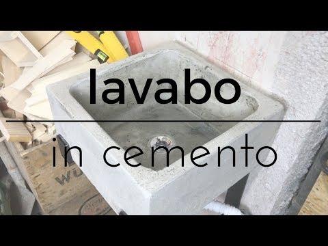 Fai da te - Lavandino in cemento sospeso