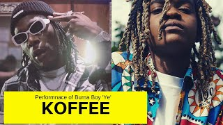 Koffee Performance Of  Burna Boy 'Ye' At 'Rapture EP' Launch In London 2019