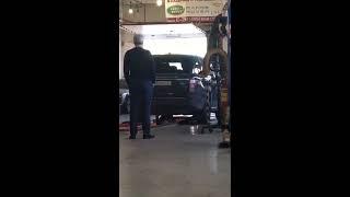 Диагностика подвески на вибростенде Land Rover Range Rover