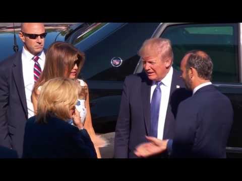 Trump arrives at Bastille Day parade