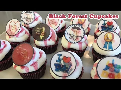Black Forest Father's Day Cupcakes – Cheeky Crumbs