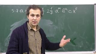 Алгебра. Урок 2 - Одночлены 7 класс