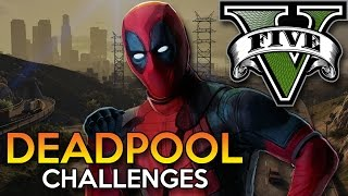 GTA 5 Mod - DEADPOOL CHALLENGES !! - Momen Lucu GTA