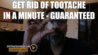 How to get rid of Toothache in 5 minutes - Natural Remedy