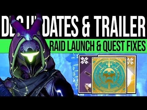 Destiny 2 | NEW TRAILER & DLC UPDATES! Vex Content, Raid Details, Quest Issues & Fixes!