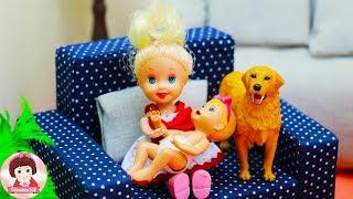 ละครบาร์บี้ ตอน องุ่นอยู่บ้านกับน้องมะเฟือง Barbie Story Smoothie Toy channel