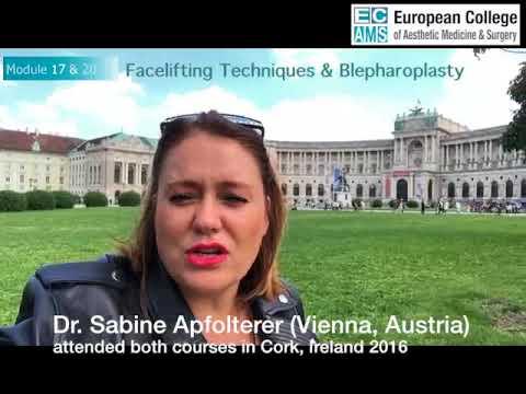 Facelift and Blepharoplasty Course Testimonial - Dr Sabine Apfolterer