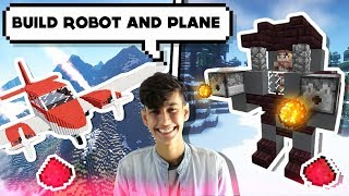MINECRAFT ME Kaise Banaye ROBOT 🤖 AND AIRPLANE ✈️BUILD || FUNNY ANDROID HINDI GAMEPLAY MINECRAFT