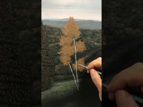 Painting a tree, third phase