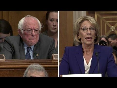 Democrats challenge Trump's education pick