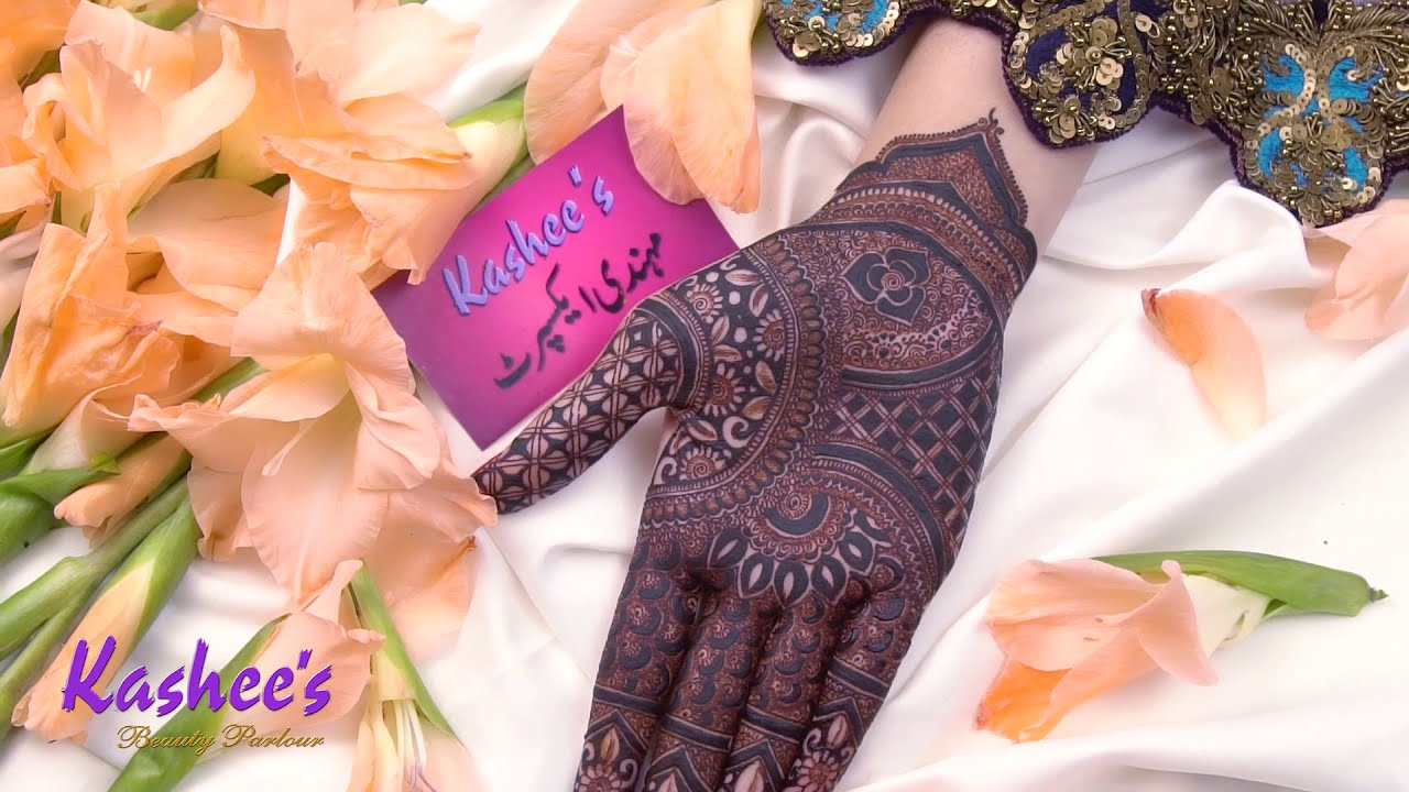 bridal mehndi design for hands by kashees beauty parlor