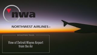 preview picture of video 'View of Detroit-Wayne Airport from the air'