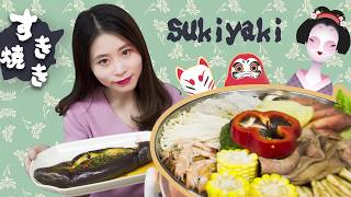 E51 Cooking sukiyaki with an e-heater at office|Ms Yeah