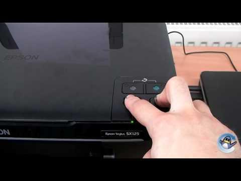 Seft Test & Nozzle Check on a Epson Stylus SX125