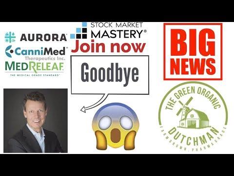 Big stock market news Aurora abandons TGOD