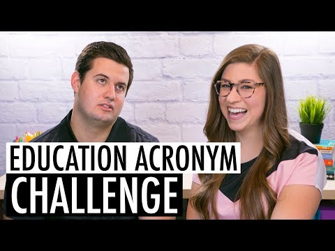 Education Acronym Challenge | Featuring Mr. Pocketful of Primary!