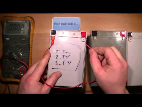 TEST N°2 - Batteries defectueuses 12V 12Ah