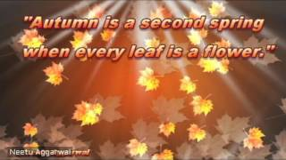 Fall Is In The Air,I Love Fall,Happy Autumn Season Wishes,Greetings,Sms,Saying