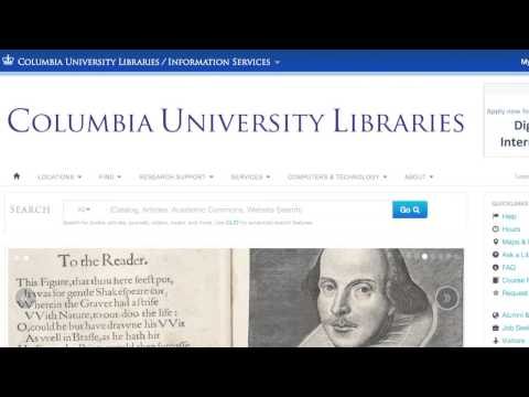 Library.columbia.edu:  A New Way to Search