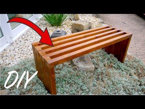 Moderne GARTENBANK aus Holz selber bauen unter 50€