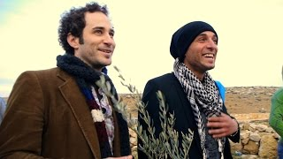 "Joshua Davis plays ""The Workingman's Hymn"", Run Across Palestine 2012"
