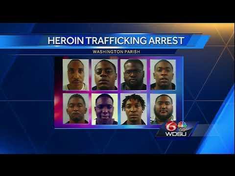 Eight men accused of trafficking heroin in Washington Parish