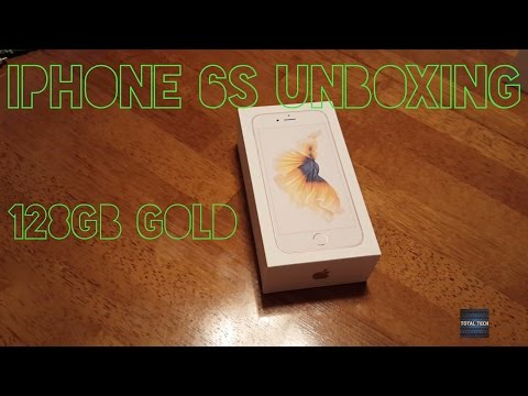 iPhone 6S 128gb GOLD Unboxing
