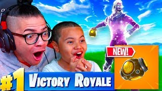 *NEW* PORT A FORTRESS GAMEPLAY IN FORTNITE BATTLE ROYALE! DUOS WITH 10 YEAR OLD USING GALAXY SKIN!