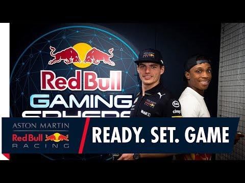 Hashtag Ryan challenges Max Verstappen at the London Red Bull Gaming Sphere